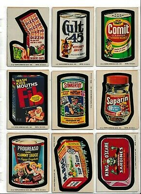 1974 Topps Wacky Packages 11th Series 11 lot of 18 COMPLETE a SET EX+ puzzle