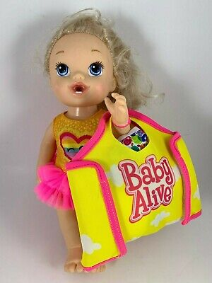 2013 Blond Hasbro Baby Alive Darci's Dance Class Doll Diapers Bag Cup Brush Etc