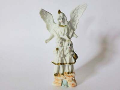 Staffordshire Bisque Angel Figurine, Antique 1900's, Hand Painted, Victorian