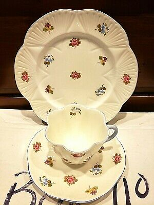 Shelley Bone China Cup Saucer& plate Rose, Pansy, Forget Me Not Pattern, Vintage