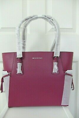 NWT MICHAEL KORS Large TZ Carryall Tote Pink Perforated w