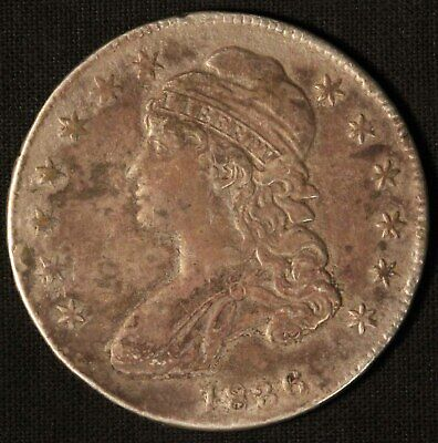 1836 United States Capped Bust 50c Half Dollar - Free Shipping USA