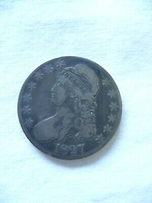 1827 P Capped Bust Half Dollar Antique Silver Coin