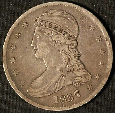 1837 United States Capped Bust 50c Half Dollar - Free Shipping USA