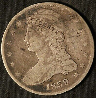 1839 United States Capped Bust 50c Half Dollar - Free Shipping USA