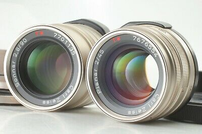 [ Excellent+5 ] Contax Carl Zeiss T* 45mm 90mm for G1 G2 From JAPAN