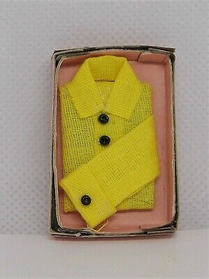 1/12 Dollhouse Vintage Men's Yellow Shirt In A Box D&M Miniatures