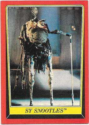 Star Wars Return Of The Jedi Card 22 Topps 1981 Sy Snootles