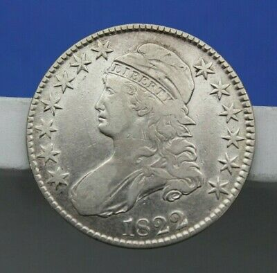 1822 Capped Bust Half Dollar Lettered Edge Very Fine