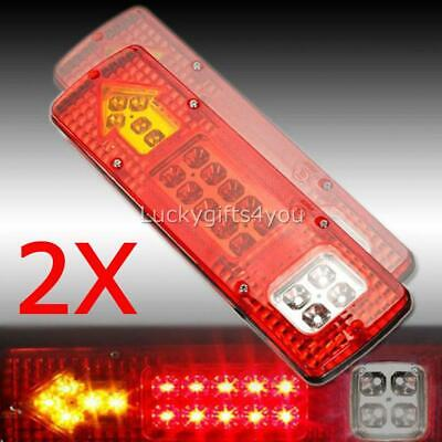 LED TRAILER TAIL LIGHTS TRUCK CARAVAN UTE BOAT LIGHT STOP INDICATOR Waterproof H