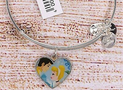 NEW Alex and Ani Disney Cinderella Heart Silver Bracelet HTF RARE