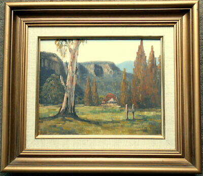 "Ronald Peters,  framed oil on board ""Capertee Valley Scene NSW"""