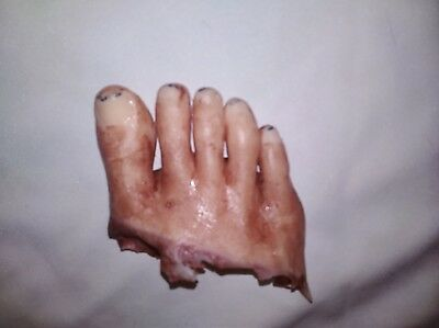 Silicone horror prop severed female foot movie special effects film quality