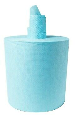 Blue Centre Feed/ Pull Paper Towel Tissue Roll Dispenser 300m x 6 Rolls Ctn