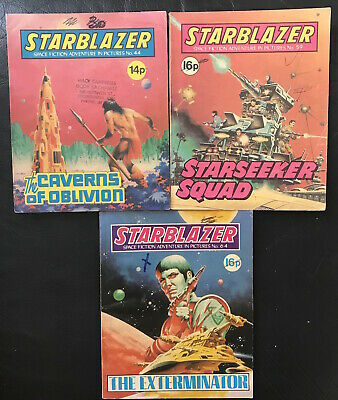 Lot Of 3 1980S Vintage Starblazer Science-Fiction Comics Dc Thomson Uk All Vgc!