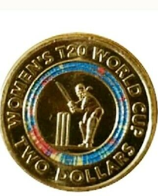 Women's cricket $2 world Cup Coin UNC FROM RAM BAG.