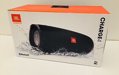 JBL Charge 4 Portable  Wireless Bluetooth Speaker Black (JBLCHARGE4BLKAM) NEW