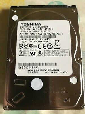 "Disque Dur Toshiba MQ01ABD100V 1TB 5400RPM 8MB Cache SATA 3.0GB/s 2.5"" Internal"