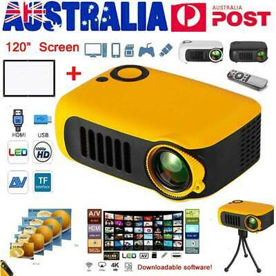 1800LM Mini Pocket Projector HD 1080P Movie Video Projectors Home Theater HDMI