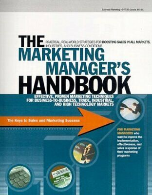 MARKETING MANAGER'S HANDBOOK: KEYS TO SALES AND MARKETING By Eric Gagnon *VG+*