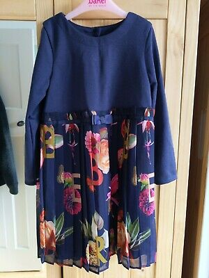 TED BAKER girls pleated dress age 5-6 brand new with tags
