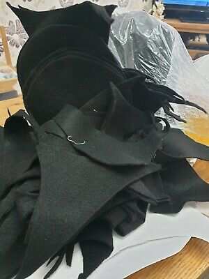 1k bag BLACK FELT Off Cuts, Lots Of peices Ideal For Crafting or kids crafts