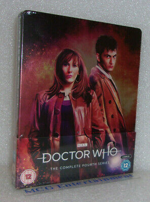 Doctor Who, The Complete Series 4 (4-Disc Blu-ray, 2019) Steelbook - New/Sealed