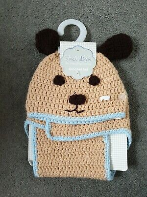 First Steps by Stepping Stones Baby Crochet Set - Teddy  bear 0-6months (c)