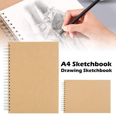 A4 Sketch Pad Book Paper Artist Sketching Drawing Doodling Art Craft 100 Pages