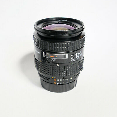 MINT Nikon AF Nikkor 24-50mm f/3.3-4.5 Zoom FULL FRAME Lens, Tested, Working