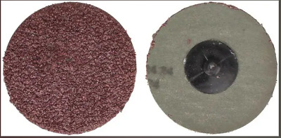 """50 Pc 24 Grit Usa Made 3"""" In Roll Lock Discs Pads Sanding Roloc Disks Abrasives"""