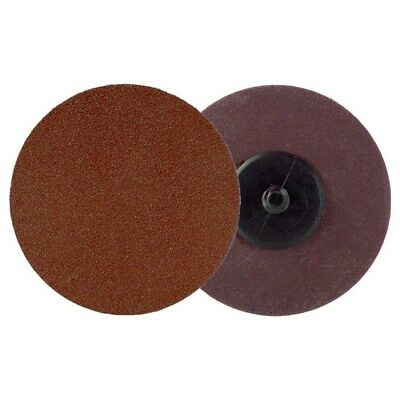 """50 Pc 60 Grit Usa Made 3"""" In Roll Lock Discs Pads Sanding Roloc Disks Abrasives"""