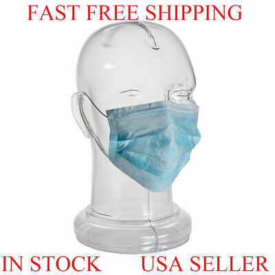 1 5 10 20 50 pcs Disposable Face Mask Medical Dental Surgical 3-Ply BFE 99% Blue