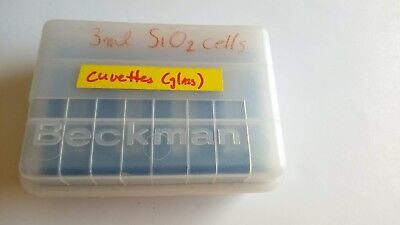4pcs 3 mL Beckman Cuvettes with Lid Case