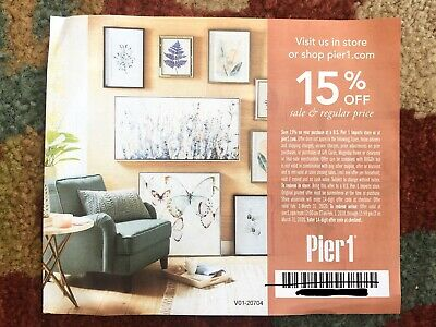 Pier 1 Imports Coupon -15% Off Entire Purchase- In Store/Online, Expires 3/32/20