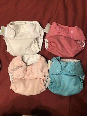 Bumgenius 4.0 One Size Pocket Cloth Diaper w/Snaps, Lot of 4 Inserts Included