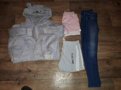 Girls Age 7-8 Bundle Of Shorts, Jeans, Bear all in 1,from blue zoo, nutmeg, h&m