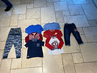 Boys Age 3-4 Bundle Tops, Jeans And Joggers X 9 Items