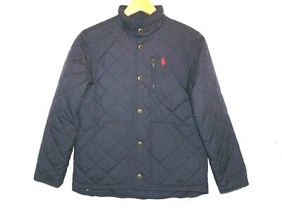 Boys Genuine RALPH LAUREN Size M Age 10 -12 POLO Navy Boys Quilted Coat Jacket
