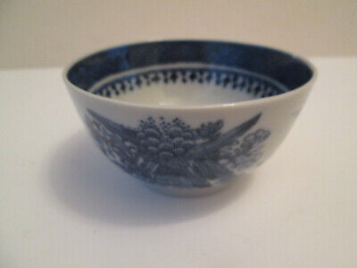 Rare Antique CHINESE EXPORT Fitzhugh Teacup NANKING CANTON Blue White Tea Cup