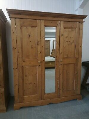 Large Solid Pine Full Hanging Length  2 Door Wardrobe  *FREE DELIVERY*
