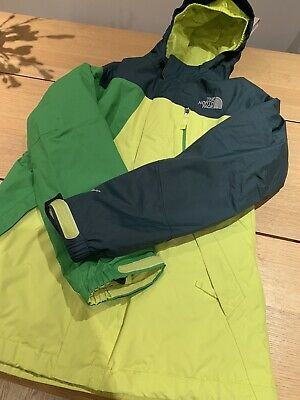 Boys The North Face Ski Jacket, shell with removable inner jacket, age 14/16