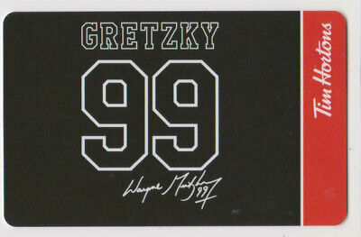Tim Hortons Gift Card No Value Wayne Gretzky 99 Facsimile Auto