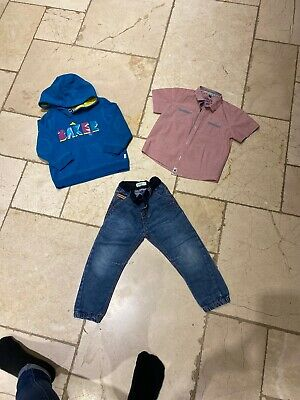 Boys 2-3 Ted Baker Bundle Jumper, Shirt And Jeans 💙