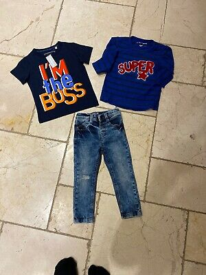 Boys Age 18-24 Months. Trendy Next Skinny's Jeans, Next And Bluezoo(BNWT) Top 💙