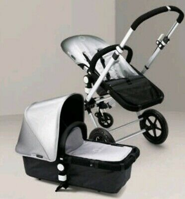Bugaboo cameleon 1&2 silver limited edition fabric set, hood apron & seat cover
