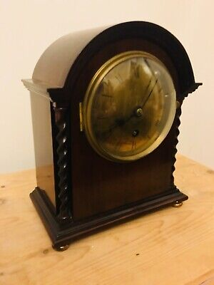 Antique astral of Coventry oak cased mantle clock working