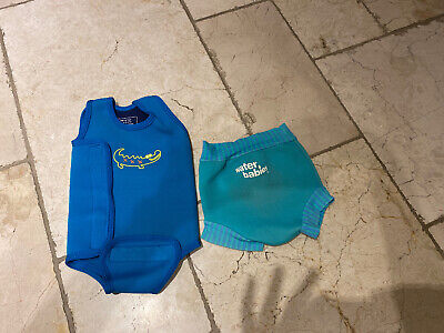 Baby Wetsuit 6-12 And Waterbabies Swim Nappy