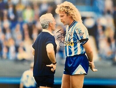 Brian Kilcline HAND SIGNED 20x16 Coventry City 1987 FA Cup Winner Photograph COA