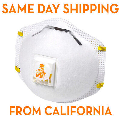 N95 Mask 3M 8511 Particulate Respirator Face Mask W/ Exhalation Valve 15 Masks
